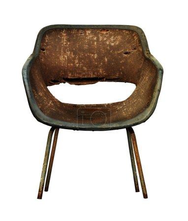 Dark, dirty chair