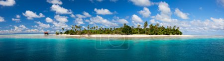 Photo for Panorama of idyllic island and turquoise ocean water - Royalty Free Image