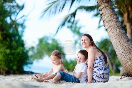 Family enjoying time at beach