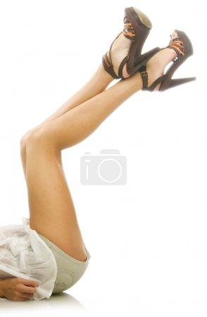 Attractive female legs