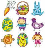 Easter doodles design elements (series)