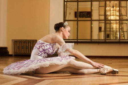 Young ballerina in ballet pose