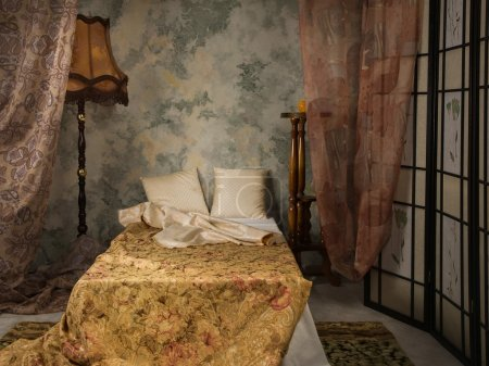 Bedroom in the vintage style