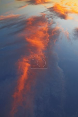Magnificent shades of orange clouds