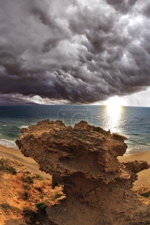 A thundercloud above Mediterranean sea