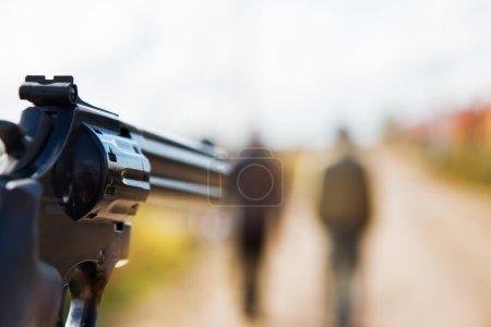 pistolet visant à