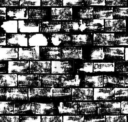 Seamless pattern with brick wall