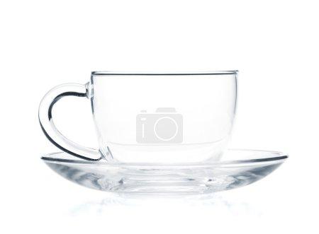 tasse à thé verre vide