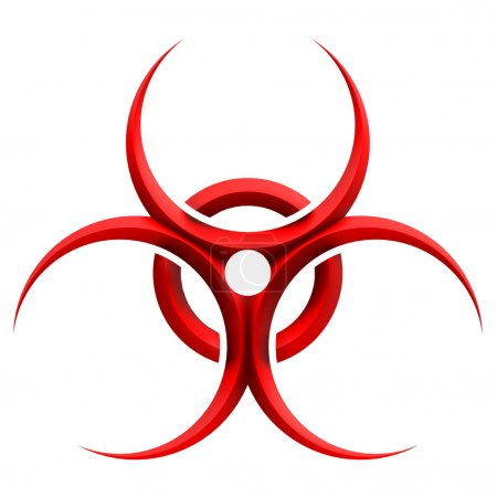 Photo for Sign biohazard - Computer generated image - 3d render. - Royalty Free Image