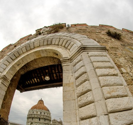 Architectural detail of Miracle Square in Pisa