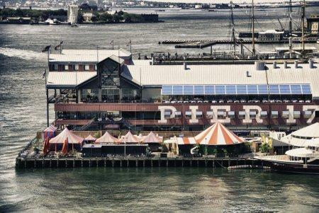 Pier 17 in New York City, U.S.A.