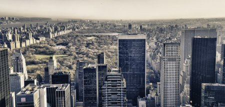 Photo for Central Park and surrounding Skyscrapers in Winter, New York City - Royalty Free Image