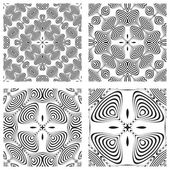 Op art monochromatic patterns 3