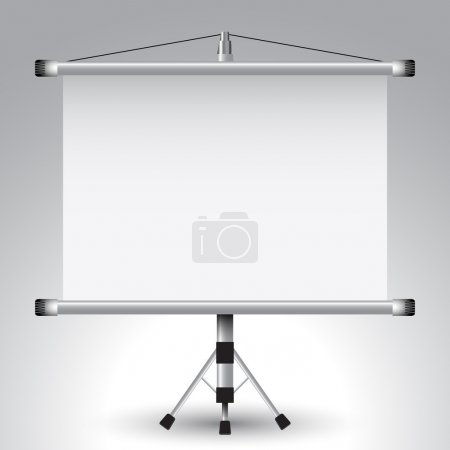 Illustration for Projector roller screen, abstract vector art illustration; image contains transparency - Royalty Free Image