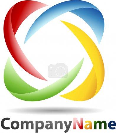 Photo pour 3d abstrait sphere logo - image libre de droit