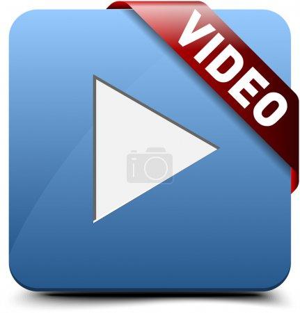 Illustration pour Regarder la vidéo bouton - image libre de droit
