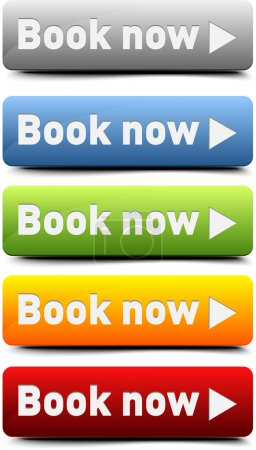 Illustration for Book now button - Royalty Free Image