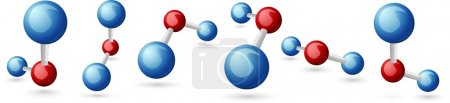 Illustration for Water molecule - Royalty Free Image