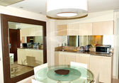 Kitchen interior at luxury villa, Tenerife island, Spain