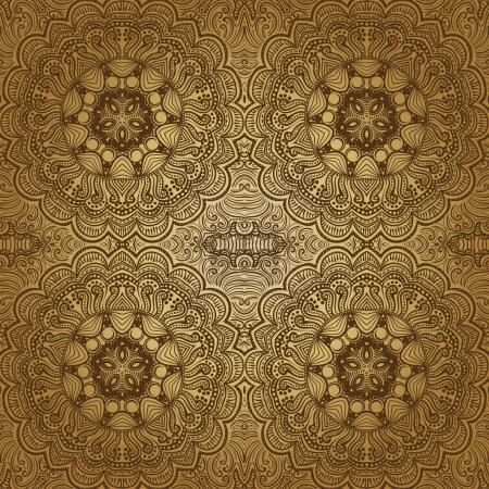 Ornamental lace pattern, square background with ma...