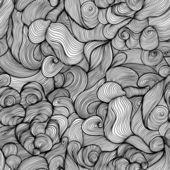Abstraktní ručně kreslený vzor bezešvé, vlny pozadí. Abstrakt