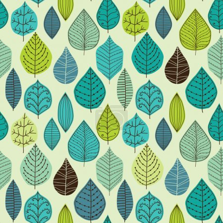Illustration for Seamless texture with leaf - Royalty Free Image