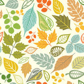 A seamless pattern with leafautumn leaf background