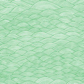 colorful seamless abstract hand-drawn pattern waves background