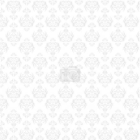 Illustration for Seamless Damask wallpaper - Royalty Free Image