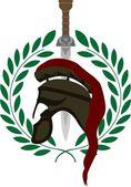 Roman helmet and sword