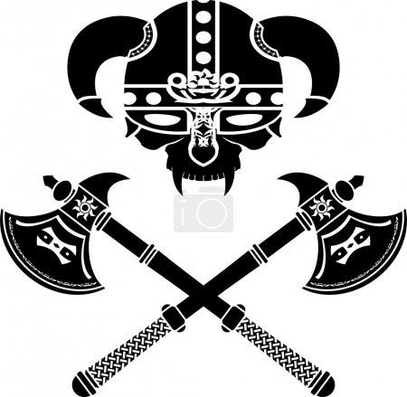 Fantasy viking helmet