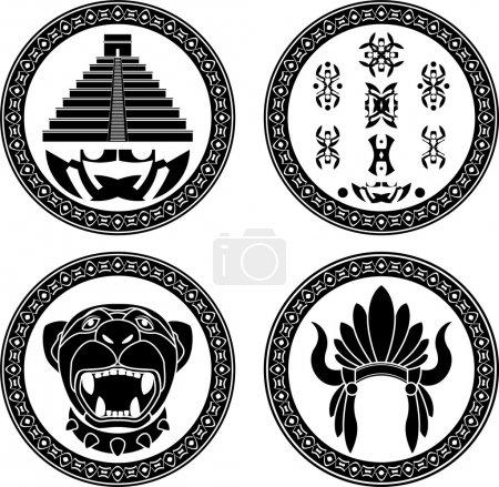 Set of mayan signs