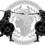 Trojan war. stencil. vector illustration...