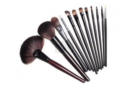 Photo for Close up shot of brushes for make-up, isolated on white - Royalty Free Image