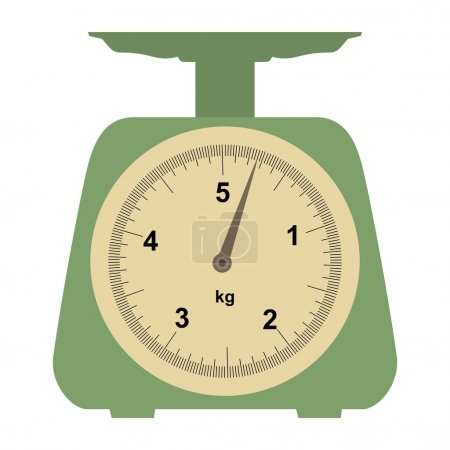Illustration for Illustration of a domestic weigh-scales on white - Royalty Free Image