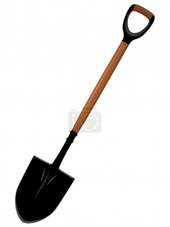 Illustration of a shovel