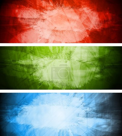 Bright textural backgrounds set