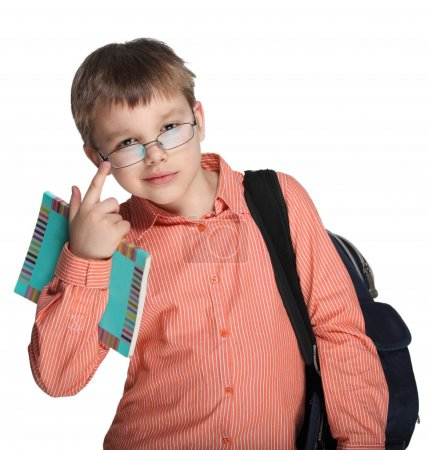 Schoolchild in glasses
