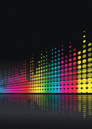 Illustration for Musical background with multicolored lines - Royalty Free Image