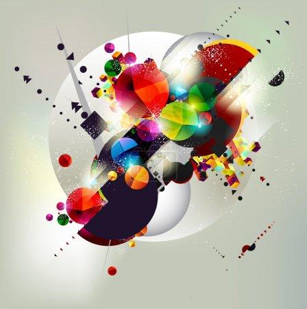 Illustration for Background of geometric shapes. - Royalty Free Image