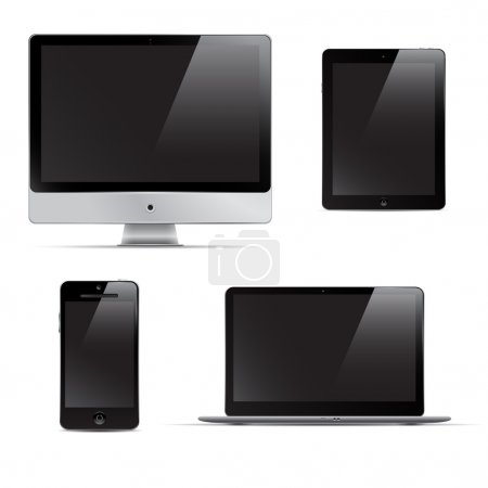 Set of digital devices.