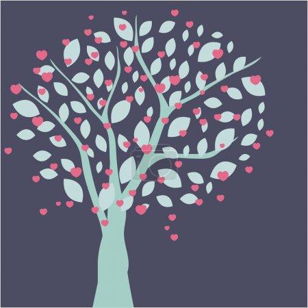 Photo pour Cerisier. Carte vectorielle printemps - image libre de droit