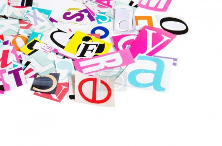 The letters which have been cut out from newspapers