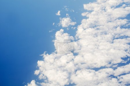 Photo for View above earth at the clouds below - Royalty Free Image
