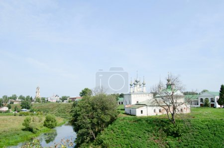 Ancient church in Suzdal. A gold ring of Russia