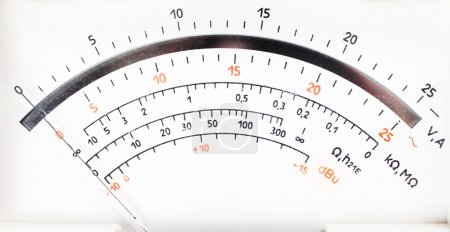 Photo for Closeup view of analog electric meter dial - Royalty Free Image
