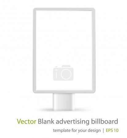 Vector blank advertising billboard on white background. Eps10