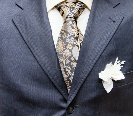 Photo for Business formal wear with tie and suit - Royalty Free Image