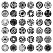 Patterns in circle shape 36 design elements Set 2 Vector art