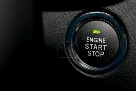 Engine start stop button of a car...